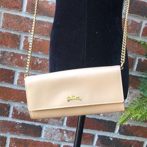 Longchamp Honore Leather Wallet crossbody